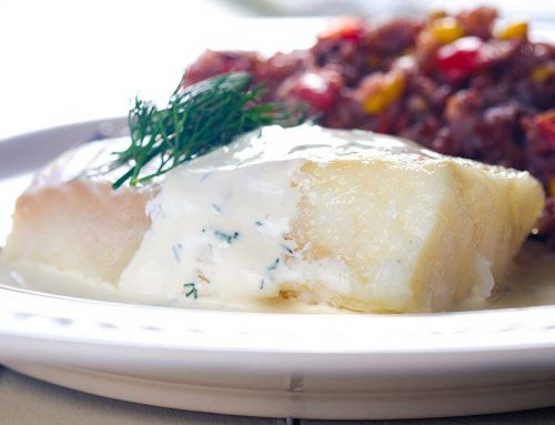 Sous Vide Cod Loins in White Wine Dill Sauce