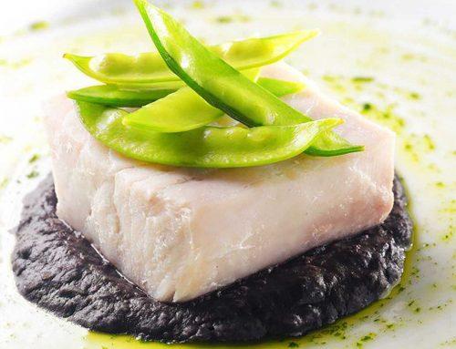 Sous Vide Mahi-Mahi with Squid Ink Bean Puree