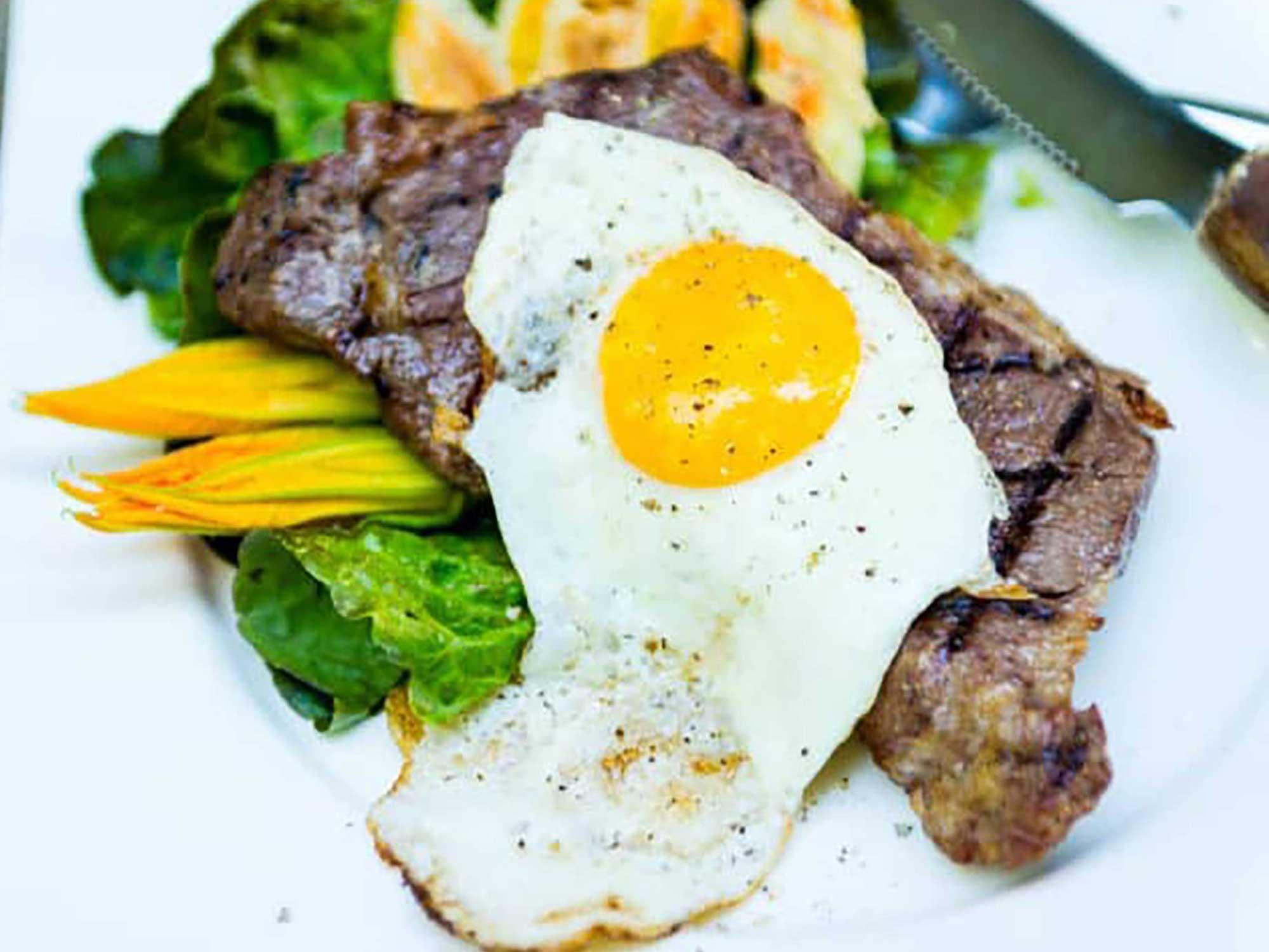 Sous Vide Steak and Eggs